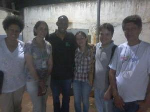 Marli Soares, Antoniette Camargo, Luis Novais, Gabriela Guimarães, Danilo Vizibeli e Clóvis Marques